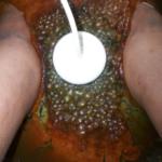 DETOX RESULTS - DARK GREEN UNDER BURNT ORANGE