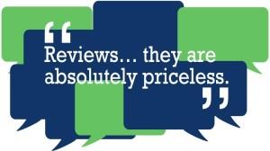 Reviews Are Priceless!