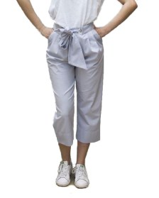 Cropped trousers with belt by AD LOFT