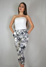 Floral print trousers by AD LOFT