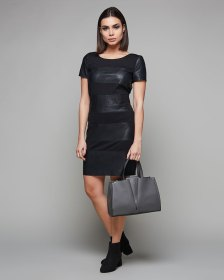 New Margot Faux Leather Mix Dress by Only