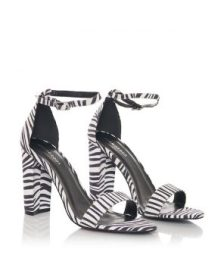 Zebra Block High Heels by Glamorous