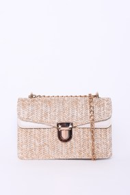 Straw Structured Square Cross Body Bag by Glamorous