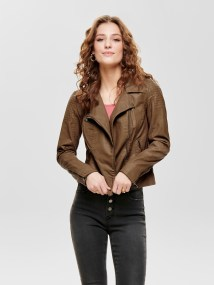 Flora Faux Leather Biker by Only