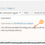 How to Identify (and remove) Comment Spam