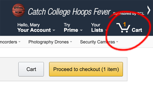 Amazon Cart Icon