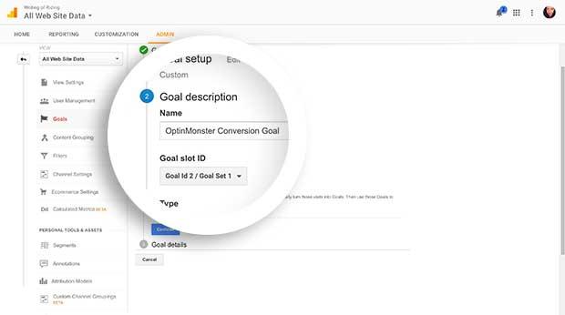 How to Create OptinMonster Event Goals in Google Analytics