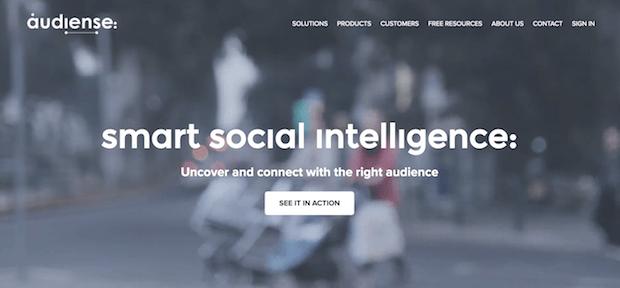 herramientas de campaña en redes sociales - audisense