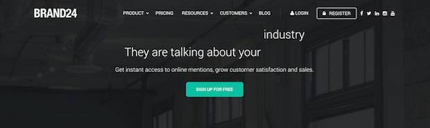 best social media tools - brand24