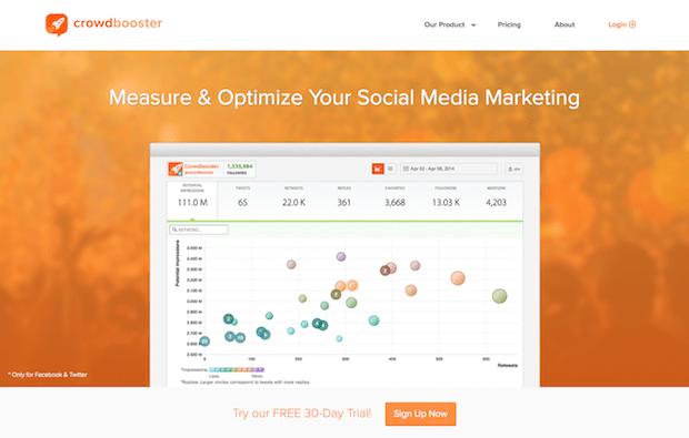 herramientas de optimización de redes sociales - crowdbooster