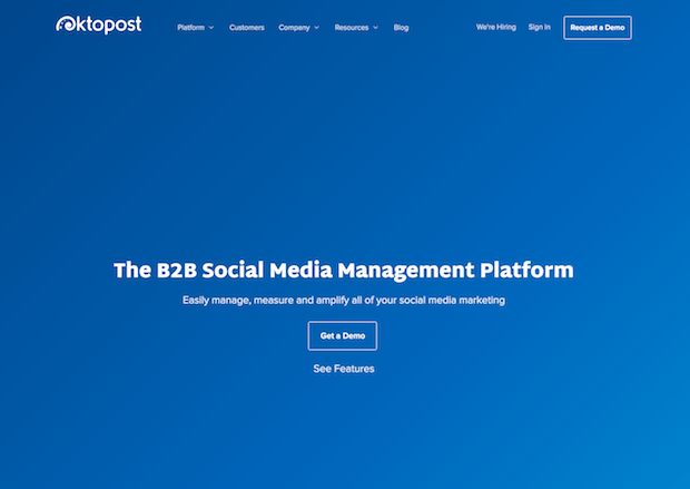 best social media marketing tools - oktopost