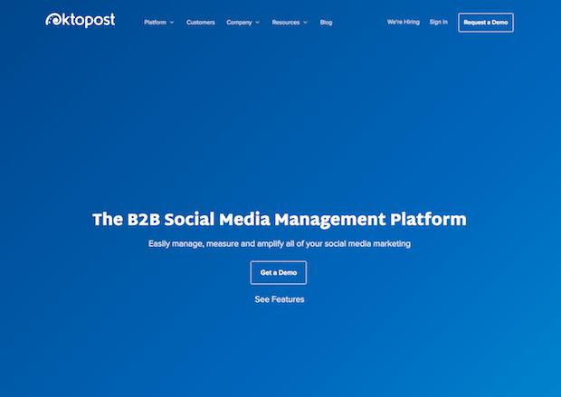 mejores herramientas de marketing en redes sociales - oktopost
