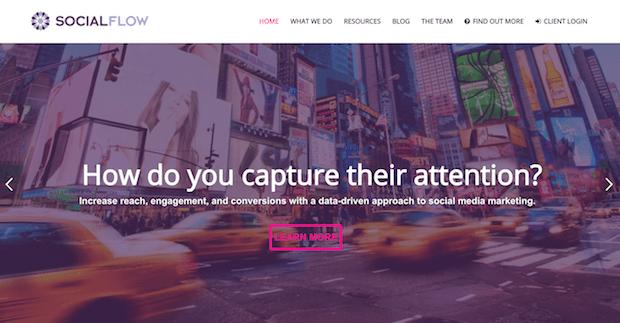 herramientas de optimización de redes sociales - socialflow