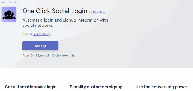 one click social login makes customer onboarding easy