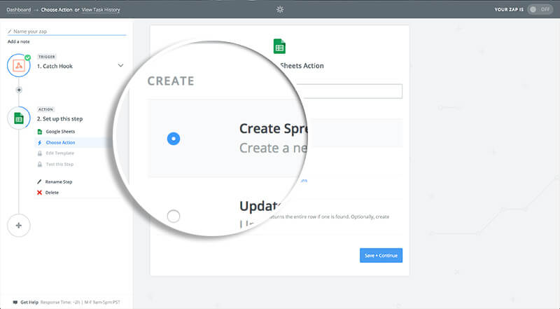 How to Add Subscribers to a Google Spreadsheet with Zapier