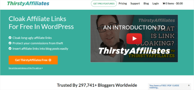 thirstyaffiliates wordpress plugin link tracking