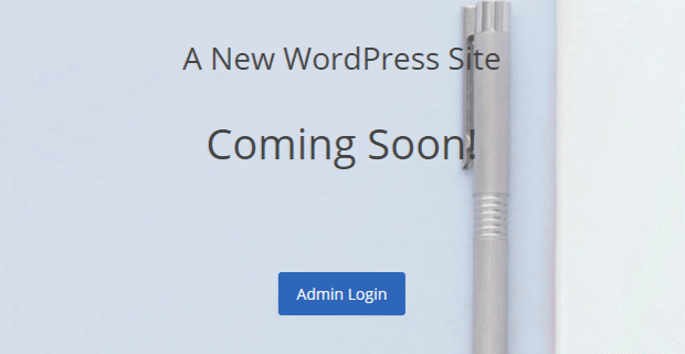 new-wordpress-site-default