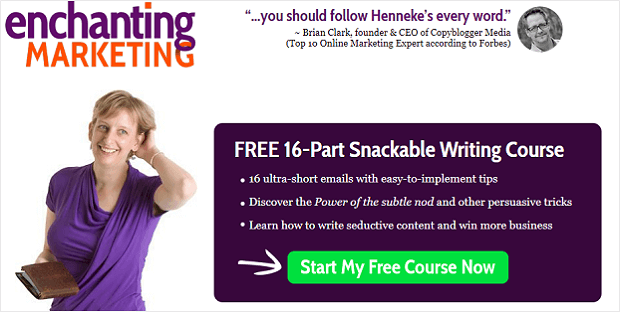 landing page email optin - marketing incantevole