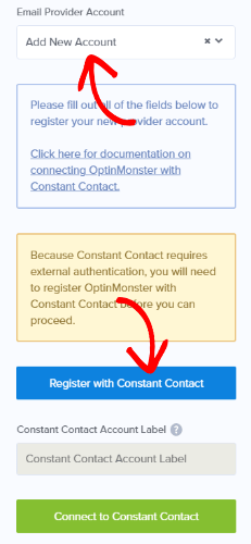 add constant contact integration