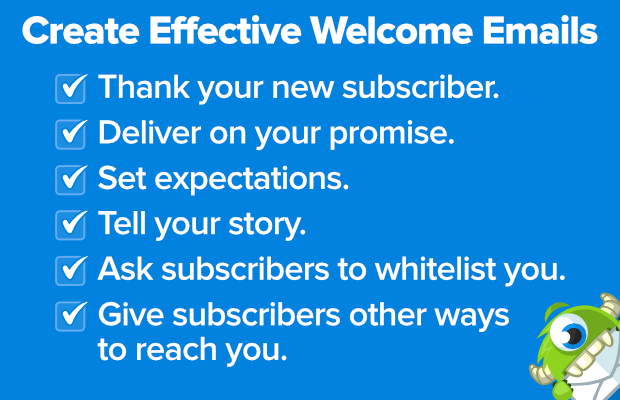create effective welcome emails