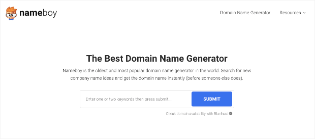 Homepage di Nameboy