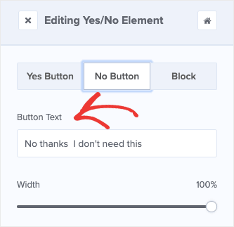 Change No Option Button Text