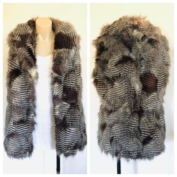 RIVER ISLAND Womens Grey Beige Animal Print Jacket Coat Size 16
