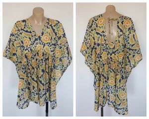 COUNTRY ROAD Ladies Multi Colour Pattern Open Side Top Size Medium M