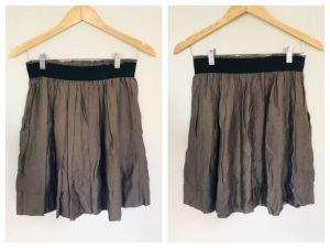 SABA Dark Grey Elasticated Waist Skirt Size 8