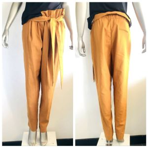SHEIKE Womens Orange Waist Tie Oversize Pants Size 14