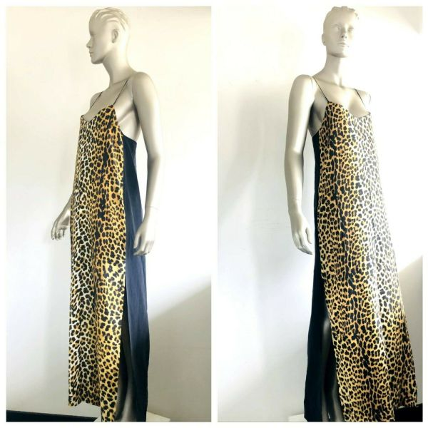 NICHOLAS Women's 100% Silk Leopard Print Sleeveless Dress Size 8 BNWT