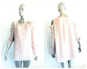SEED HERITAGE Womens Cold Shoulder Spot Top Size 14 RRP 129