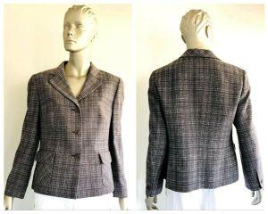 LOUIS FERAUD Womens Tight Knit Long Sleeve Jacket Size 12 (US)