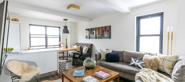 interior designer Tamara Eaton revamped her small Chelsea co-op