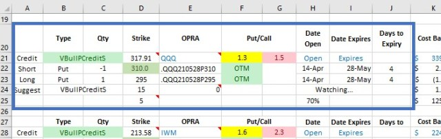 Setting the OPRA Options name for the watchlist