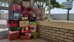 Getting ready to despatch gifts