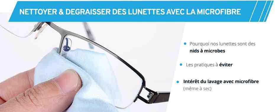 Comment nettoyer des lunettes très sales ?