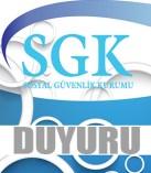SGK, TİTUBB/ ÜTS kaydı hakkında duyuru