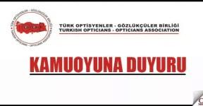 'TOGB' Merkez Yönetim Kurulu Duyurusu