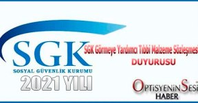 SGK 2021 yılı sözleşme duyurusu yayınlandı