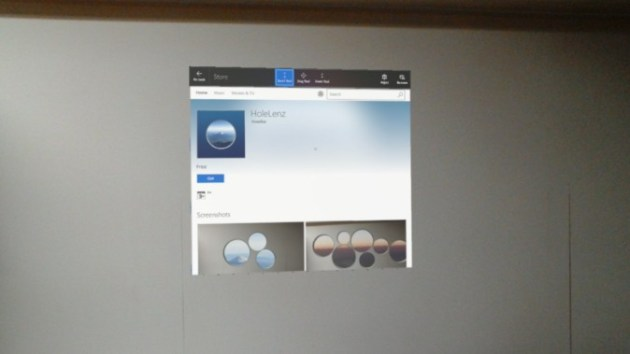 HoleLenz application of Microsoft HoloLens