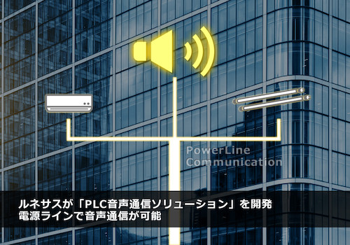 New Power Line Communication (PLC) that Enables Mixing of Data and Voice Communication in Power Line Network from Renesas