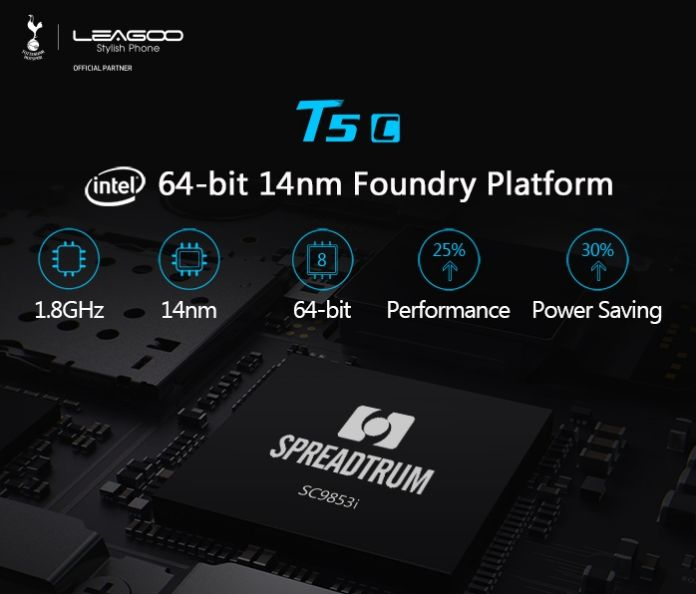LEAGOO T5c: the first mobile to mount a Spreadtrum SC9853i processor