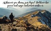 Boldly dream