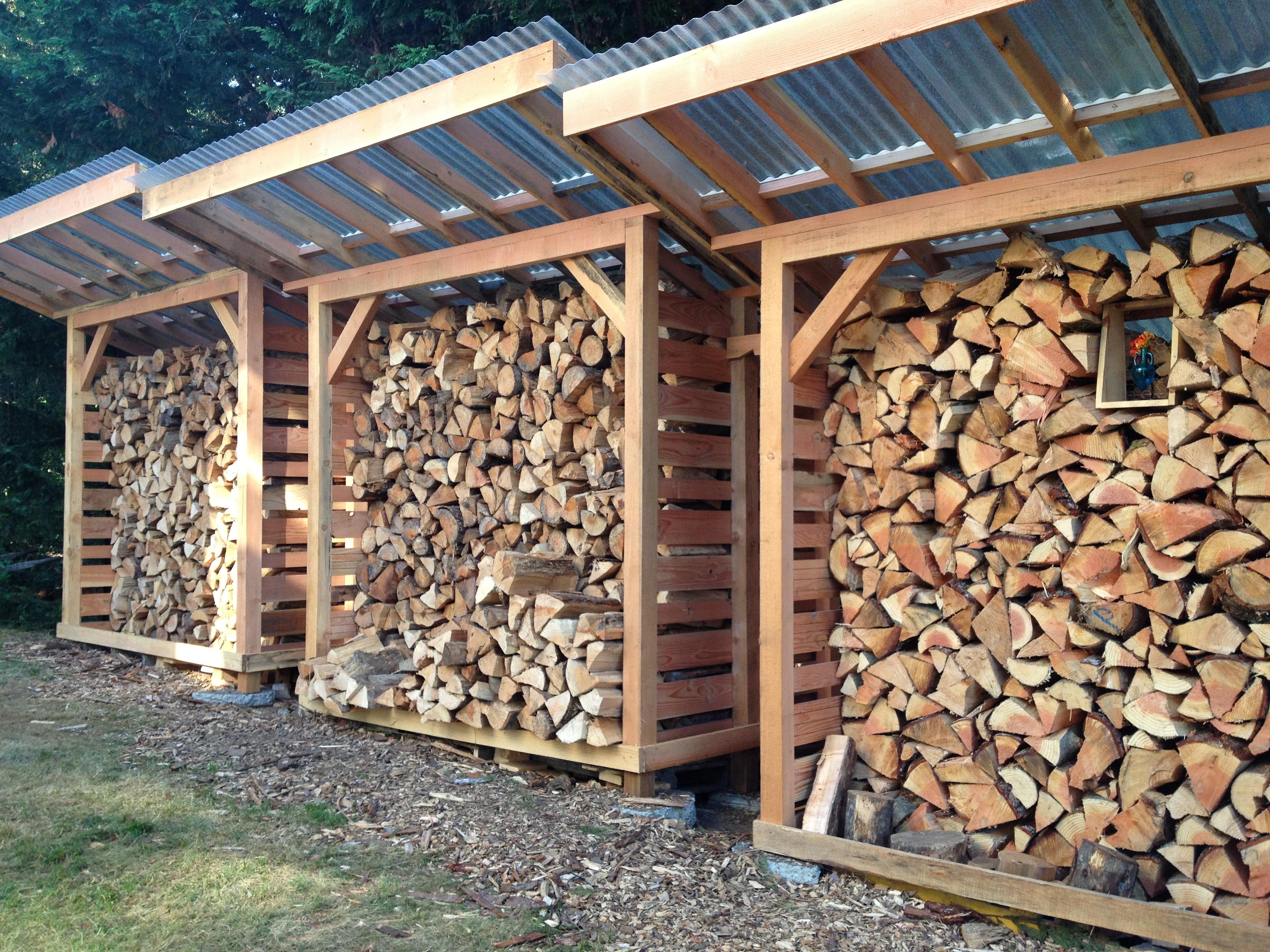 DIY Outdoor Firewood Storage Box Plans PDF Download Roll