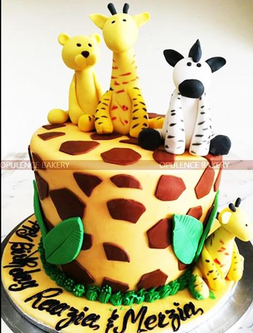 Jungle Themed Birthday Cake Opulence Bakery
