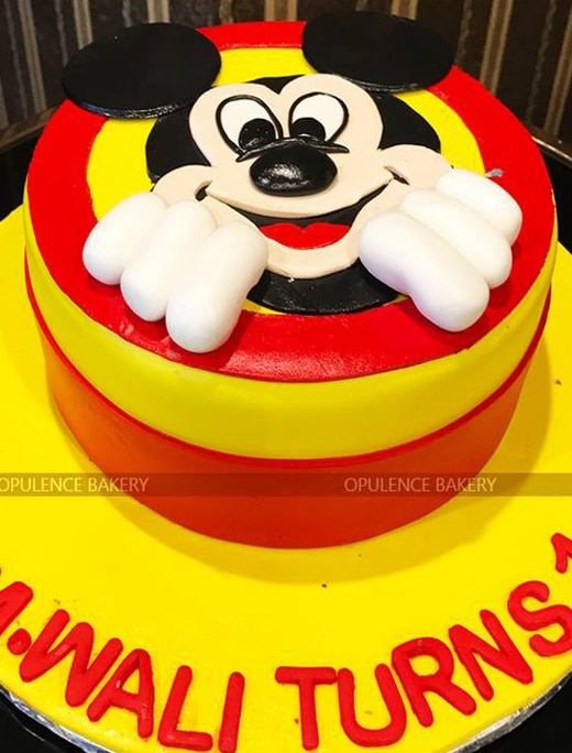 Mickey Mouse 3 Pounds Birthday Cake