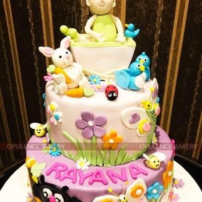 Animal Themed Birthday Cake for Girls