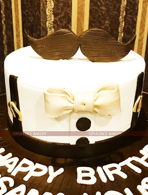 Mustache Cake For Birthday Opulence Bakery