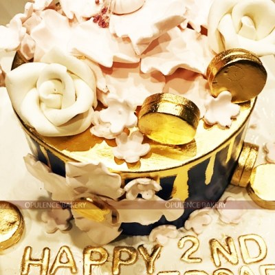 Golden Coin 3Pounds Fondant Cake